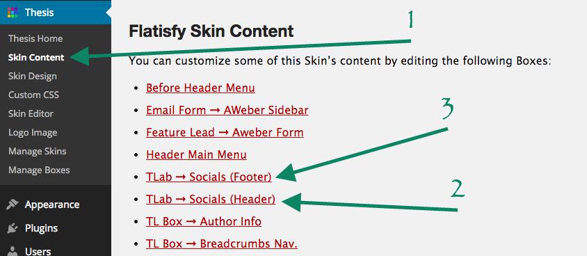 Social Content Options